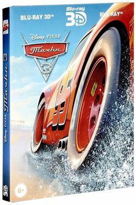 *NEW* Cars 3 (Blu-ray 3D+2D, 3-disc set, 2017) English,Russian,Arabic