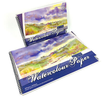 Artists Watercolour Paper Pad Spiral Bound Painting Art Paper Watercolour 300gsm