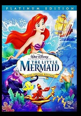 The Little Mermaid (DVD, 2006, 2-Disc Set, Platinum Edition) Disney