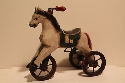 Hobby Horse Vintage Style Wood Victorian Tricycle Miniature Home Decor