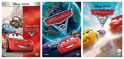 *NEW* Cars 1-3 Complete Trilogy (DVD, 3-disc box set, 2017) Russian,English