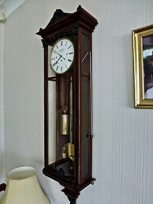 Antique  Biedermeier   Viennese   Grand Sonnerie  Regulator  Wall Clock 1840