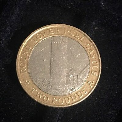 2006 ISLE OF MAN £2 Two Pound Round Tower Peel Castle