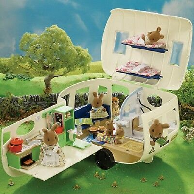 SYLVANIAN Families The Caravan Holiday Home Playset Toy Over 50 pieces NEW BOXED