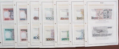 13 Uncirculated Brazil Bank Notes 50 to 10000 Cruzeiros 1981-82