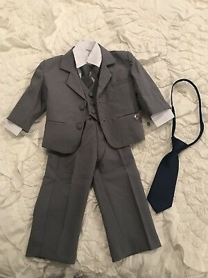 Grey Boys Toddler Suit 12-18 Months