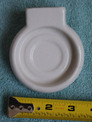 Vtg. Ceramic White Porcelain Bathroom Wall Mount  Cup Holder