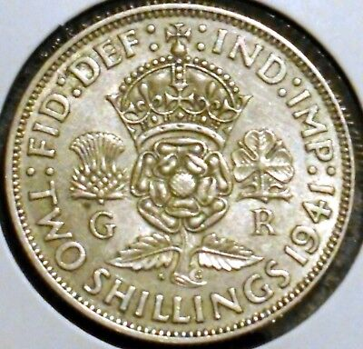 British Florin - 1941 - King George VI - $1 Unlimited Shipping