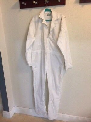 Millennium Textiles long Sleeve White Coveralls Size XL NOS