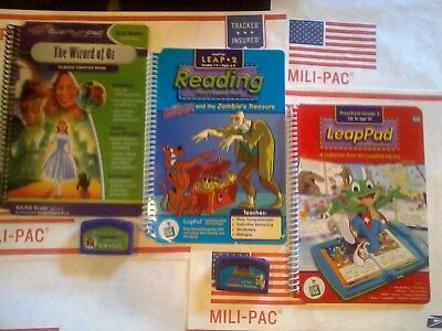 Quantum Leap Pad Leapfrog 3 Cartridges & 3 Books