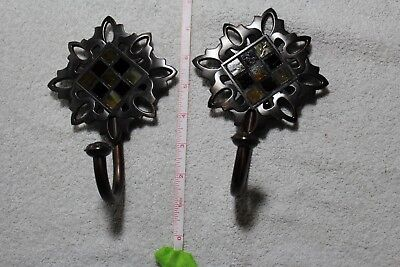 2 Vintage Decorative Metal Hanger Hooks!