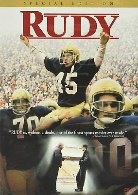 Rudy (DVD, 2000, Special Edition, Widescreen) Sean Astin *NEW* *FREE Shipping*