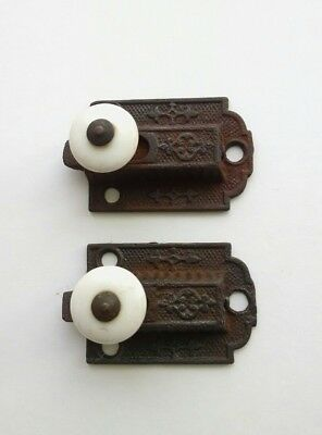 Antique Victorian Eastlake Cabinet Door Latch Pair