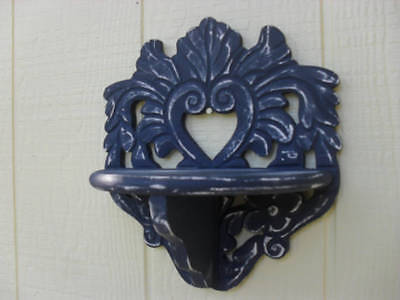 Vintage Wall Shelf Candle Sconce Distressed Shabby Cottage Chic Boho Victorian