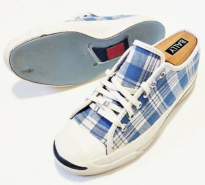b7dd7467a226 Converse Jack Purcell Vintage USA Made Vtg Plaid Side Stitch Rare 70s 80s  90s OG