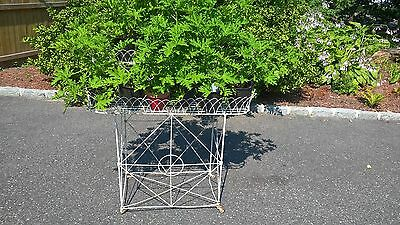 vintage wrought iron 2 tier plant stand