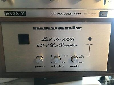 RARE MARANTZ CD-400 CD4 In complete working condition WITH ORIGINAL TAGS