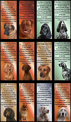 Novelty Dog Signs Property Rules Various Breeds set3