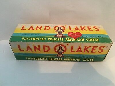 Vtg Land O Lakes Cheese Box Minneapolis MN Pasteurized Processed Cheese 2lb