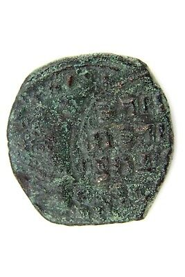 Unresearched Byzantine Bronze Coin.    1V149