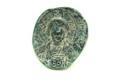 BYZANTINE EMPIRE, Basil II and Constantine VIII, AE  anonymous follis.   1v592
