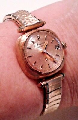 Vintage Bulova Accutron Quartz Watch Woman's For Repair or Parts SOLD AS IS