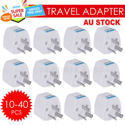 2-40x Universal Travel Adapter International UK USA EU to Australian Power Plug