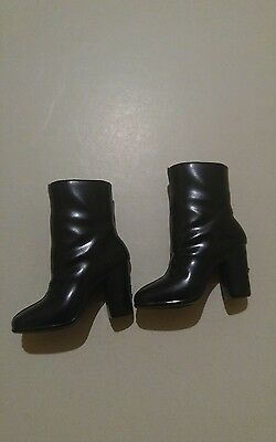 NEW Barbie Doll Black Ankle Boots  WITH PLATFORM HEELS