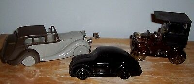 3 Vintage Antique Car Avon Decanters - No Boxes - One With Tai Winds Cologne