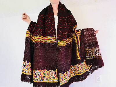 Vintage Rabari Wool Shawl & Throw.