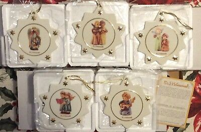 Lot 5 MJ Hummel Snowflake Star ornaments Angelic Song, Angel Duet, Accompanist +