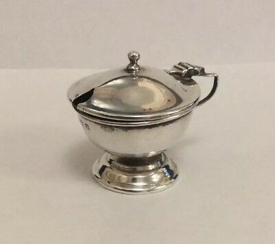 Antique Birmingham 1912 solid silver mustard pot possibly by Hayes & Co.
