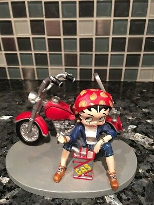 2001 Betty Boop Westland Giftware Betty Boop Figurine Motorcycle Out Of Gas