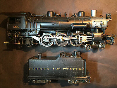 NWSL Brass #560 Norfolk and Western 4-6-2 E-2 with short tender, HO, N&W