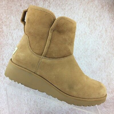 4be4404886c UGG AUSTRALIA KRISTIN 1012497 Women's Chestnut Sheepskin Wedge Boots size 9