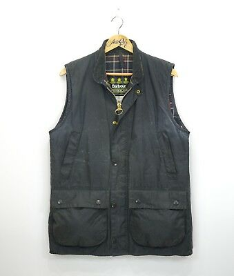 Mens Barbour Westmorland Wax Gilet Jacket Navy Size M