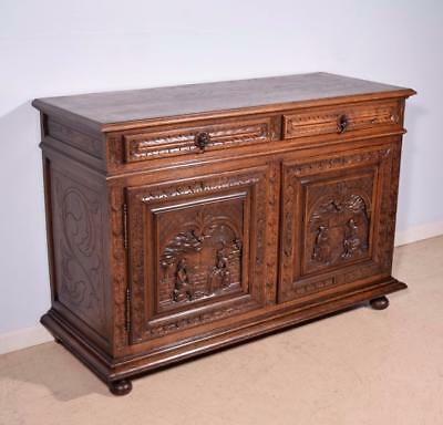 *Antique French Breton (Brittany) Sideboard/Buffet/Server in Solid Chestnut