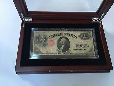 $1 1917 United States Note, In Its Display Case- Rare Find- Sawhorse Note