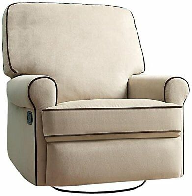 Pulaski Birch Hill Swivel Glider Recliner, Doe with Coffee Piping