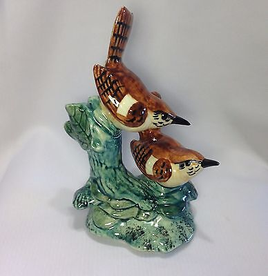 Beautiful Double Wren #3401D -Excellent -Stangl Art Pottery Bird/Animal Figurine