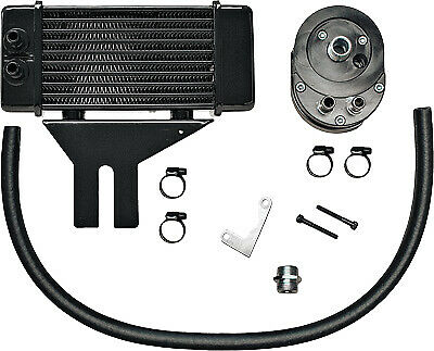 Jagg Oil Coolers 750-2500 Horizontal 10 Row Oil Cooler Low Mount Black