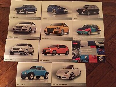 Rare Special Edition Volkswagen Trading Cards 2007 Gti R32 Gli Beetle Bug Vw Vr6