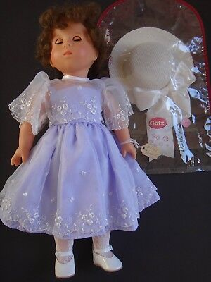 "GOTZ Girl Vintage ""Just Like Me"" Regina DOLL 18"" Brown Hair Brown Eyes"