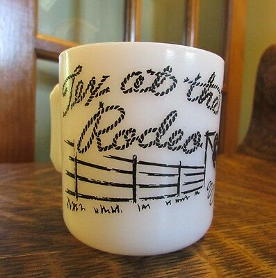 "Vintage 1040's Hazel Altas ""tex At The Rodeo"" Childs Cup, Mug"