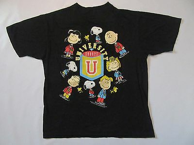Vintage 1965 University of Snoopy T Shirt sz L Large 60s Peanuts Charlie Brown