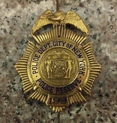antique nyc reserve badge (no pin or rank plate) number 199