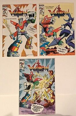 Voltron Defender Of The Universe #1-3 VF/ NM 1985