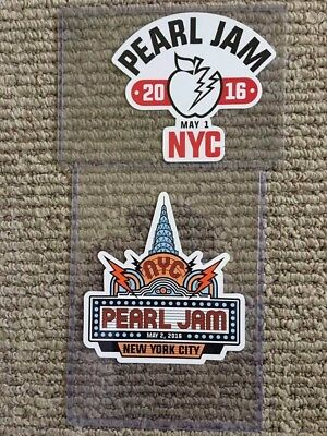Pearl Jam Tour Stickers New York May 1&2, 2016 (not shirt,poster, pin)