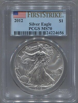 2012 PCGS MS70 First Strike American Silver Eagle!!!