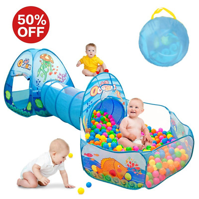 Kids Play Tent with Tunnel, Ball Pit Play House for Boys, Girls, Babies and Todd
